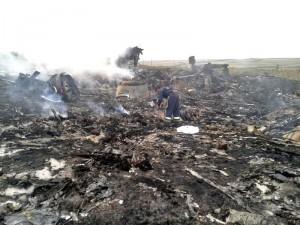 マレーシア航空機の残骸