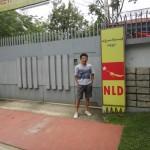 アウンサンスーチー自宅前、NLD(国民民主連盟)はスーチーの率いる政党名