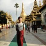 ヤンゴンのシュエダゴオン・パヤーにて