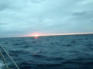 水平線上の日の出