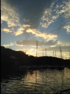 油壷湾の夕日