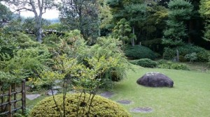 お茶室から見た喜寿庵の庭