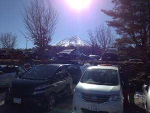 東側からみた変な富士山