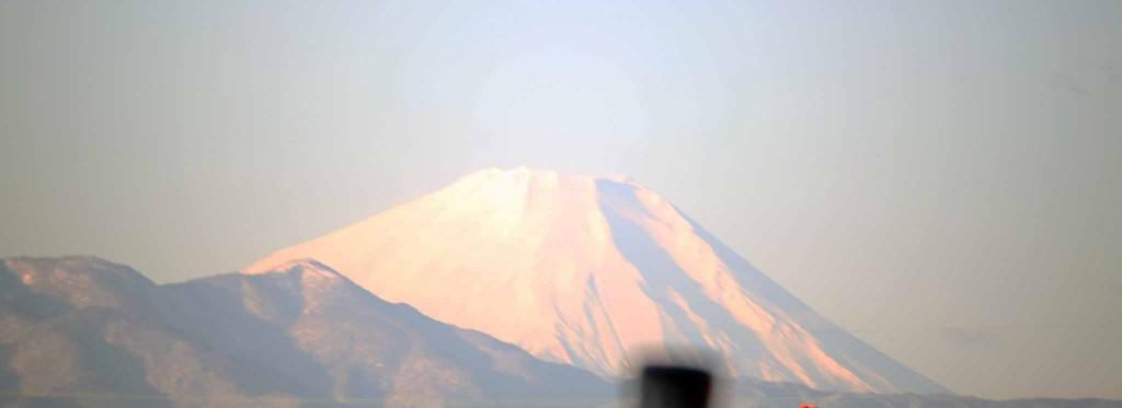 自宅から見た富士山