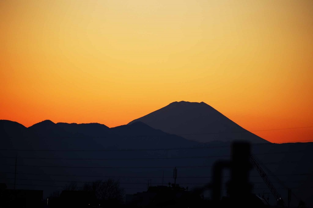 1月1日の富士山の夕焼けその2